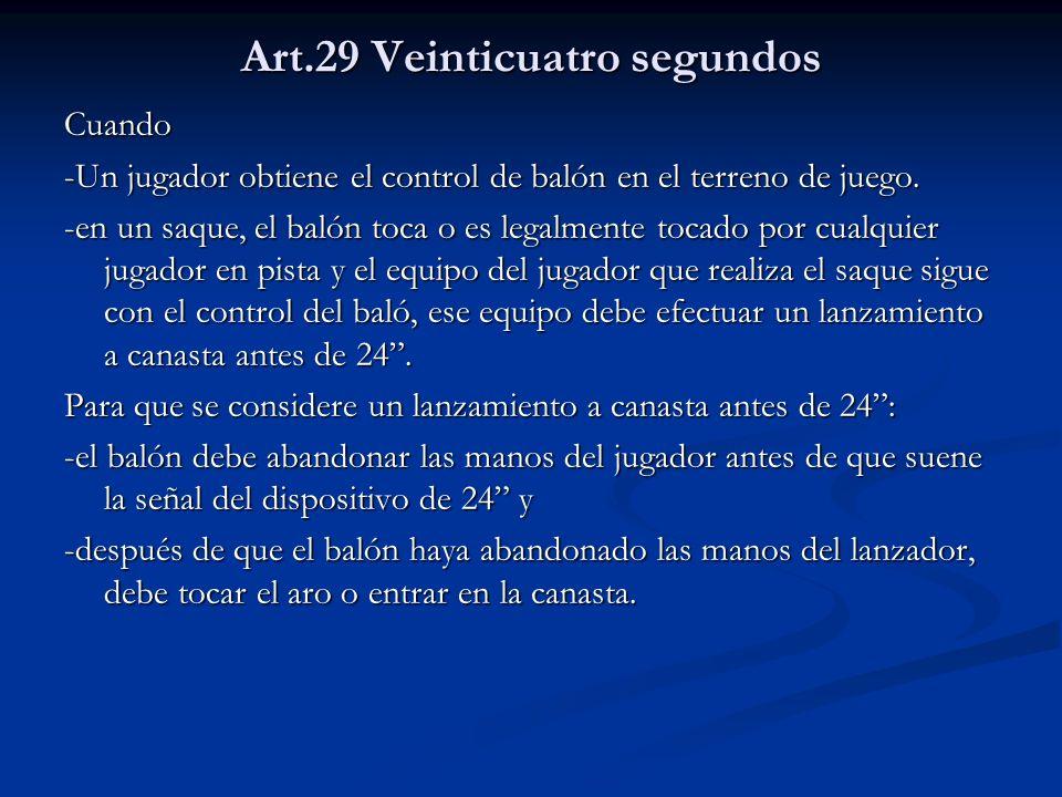 Art.29 Veinticuatro segundos