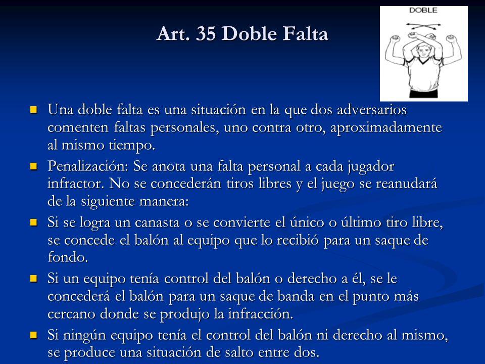 Art. 35 Doble Falta
