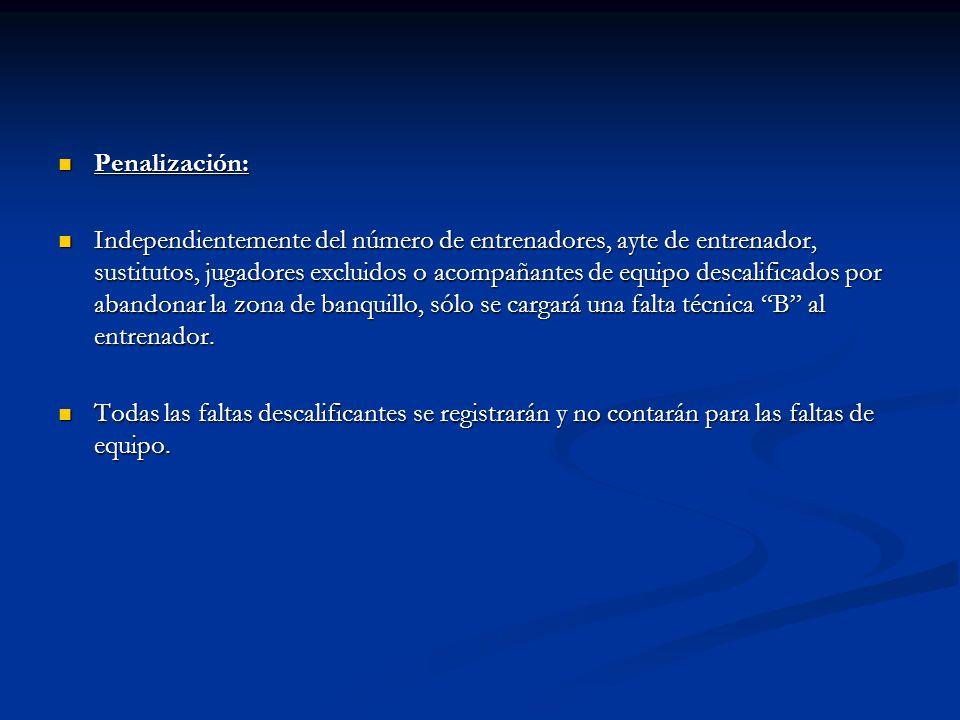 Penalización: