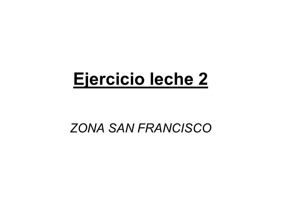 Ejercicio leche 2 ZONA SAN FRANCISCO