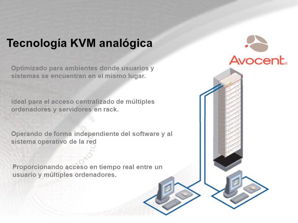 Tecnología KVM analógica