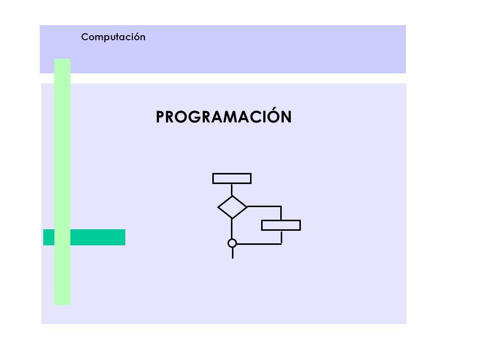 Computación PROGRAMACIÓN