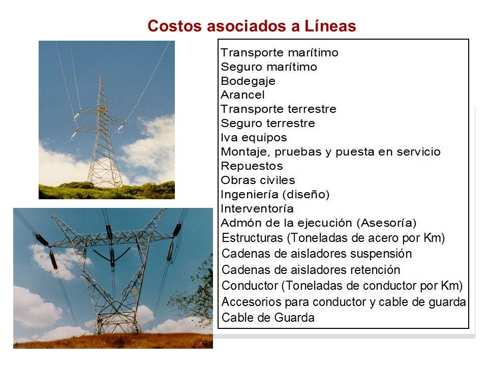 Costos asociados a Líneas