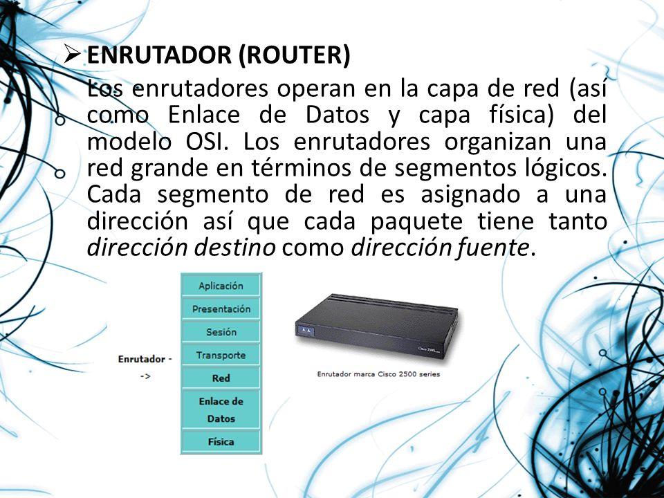 ENRUTADOR (ROUTER)