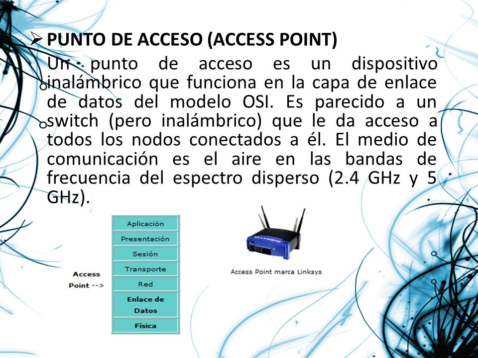 PUNTO DE ACCESO (ACCESS POINT)