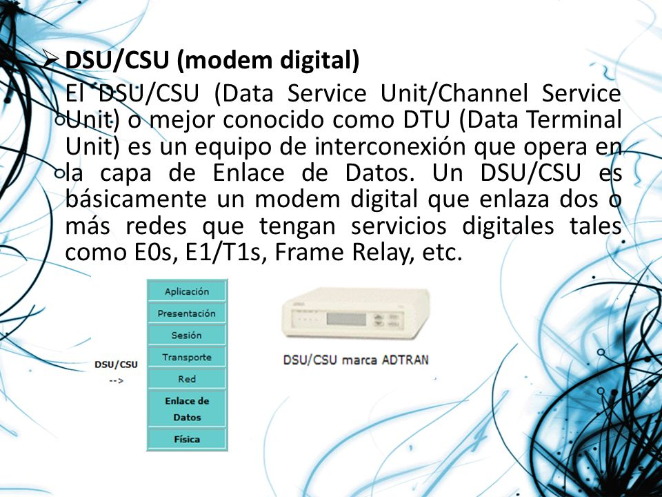 DSU/CSU (modem digital)