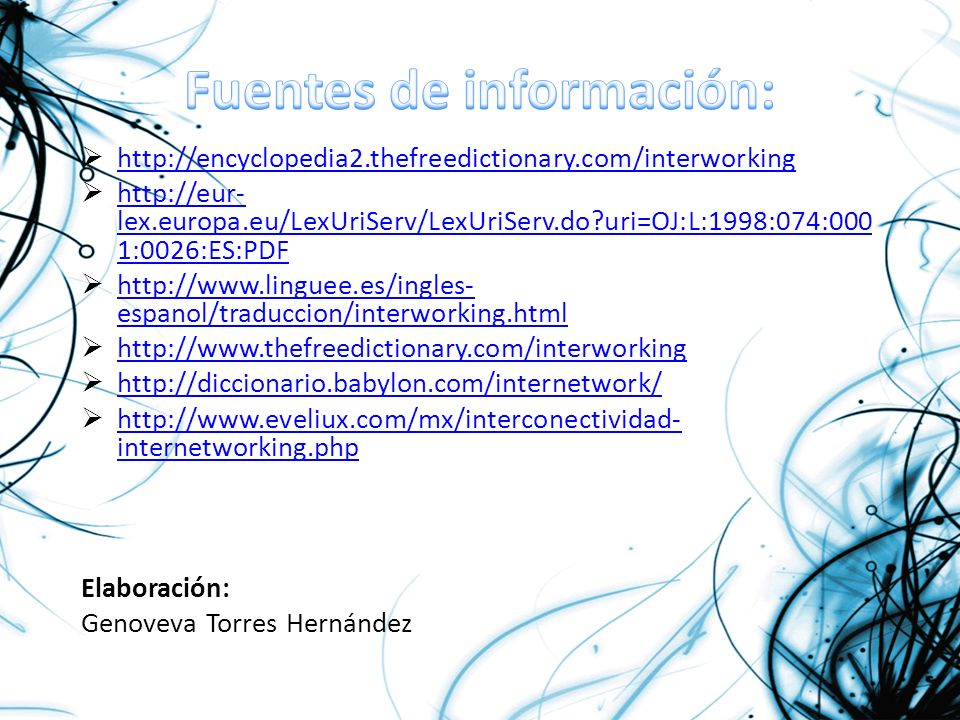 Fuentes de información: