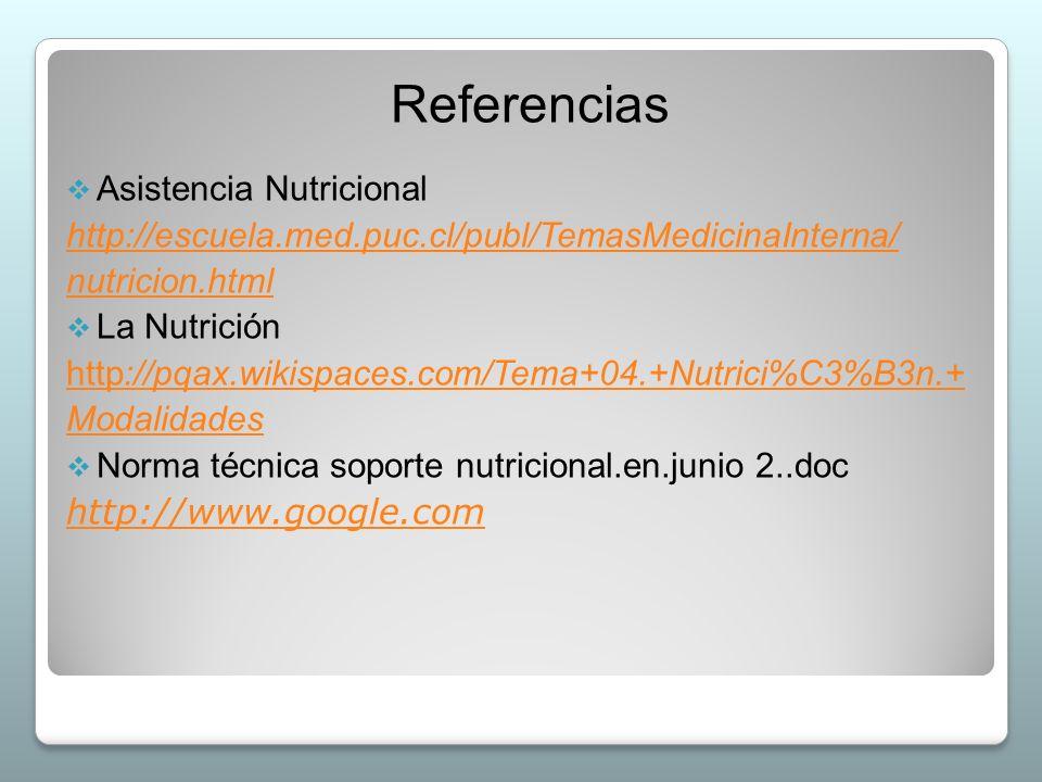 Referencias Asistencia Nutricional