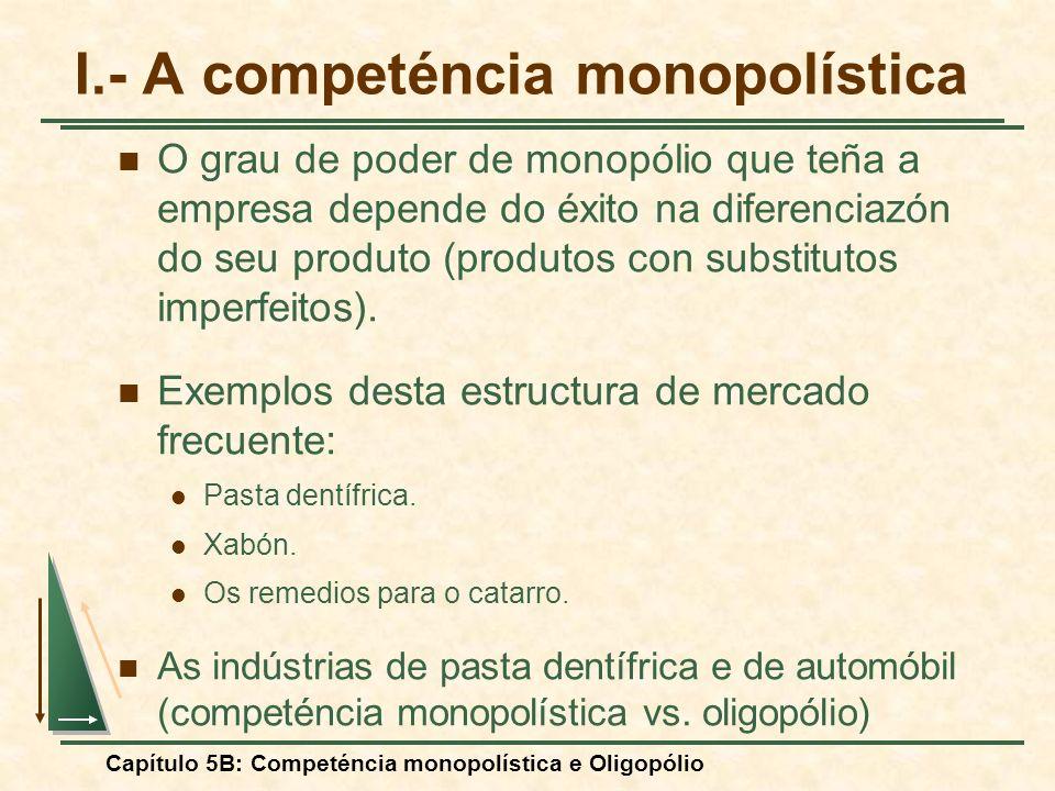 I.- A competéncia monopolística