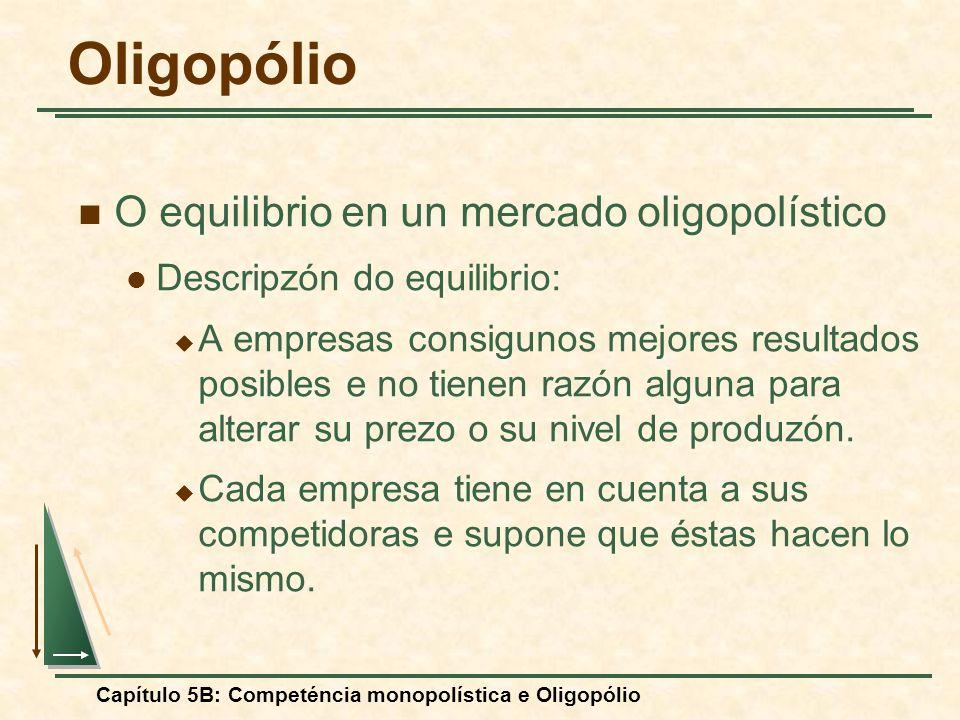 Oligopólio O equilibrio en un mercado oligopolístico