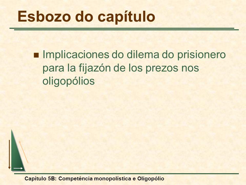 Esbozo do capítulo Implicaciones do dilema do prisionero para la fijazón de los prezos nos oligopólios.
