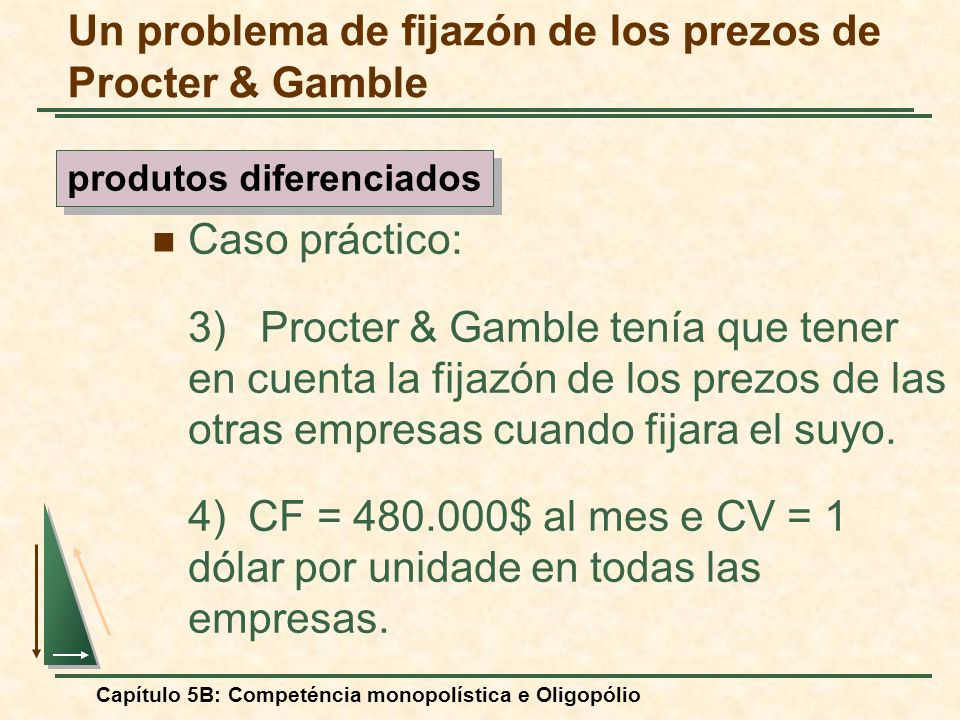 Un problema de fijazón de los prezos de Procter & Gamble