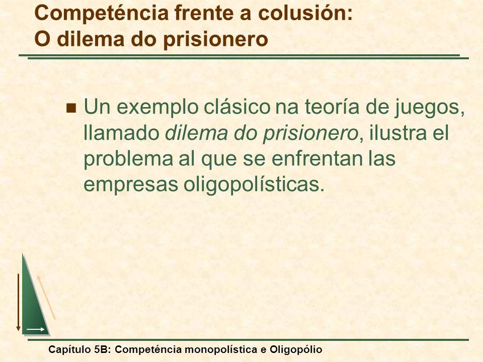 Competéncia frente a colusión: O dilema do prisionero