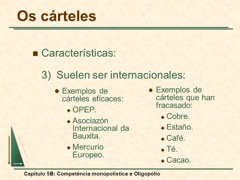 Os cárteles Características: 3) Suelen ser internacionales: