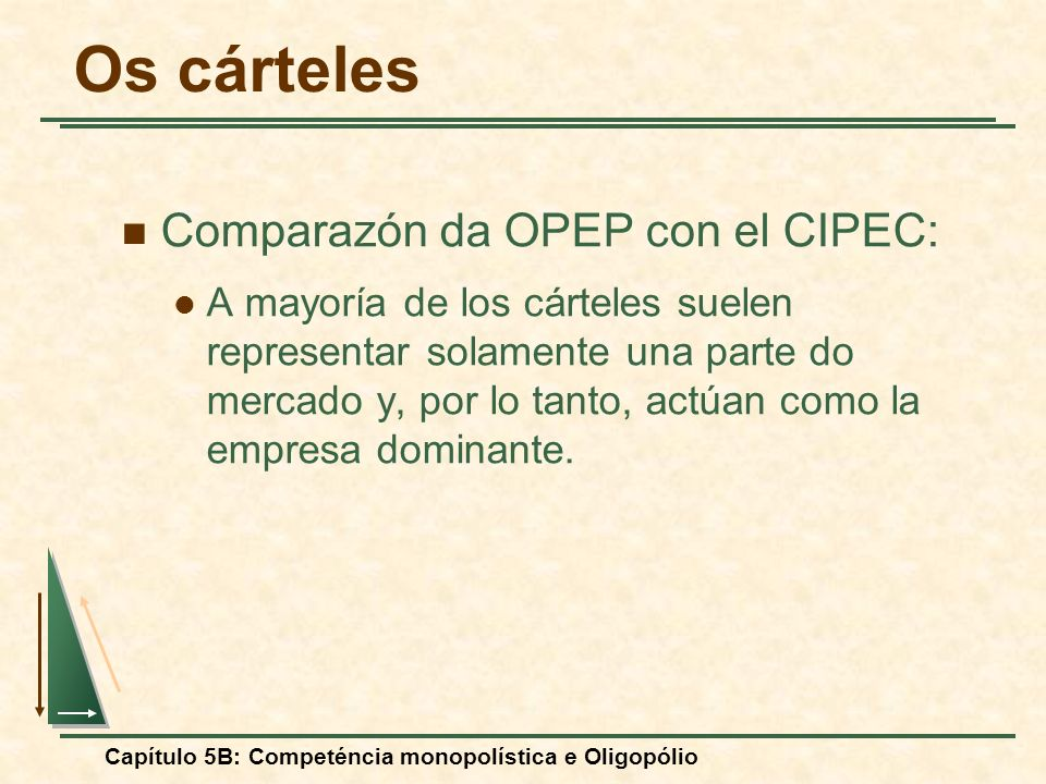 Os cárteles Comparazón da OPEP con el CIPEC: