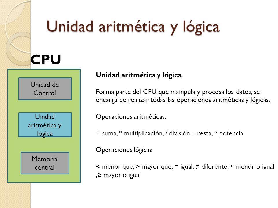 Unidad aritmética y lógica