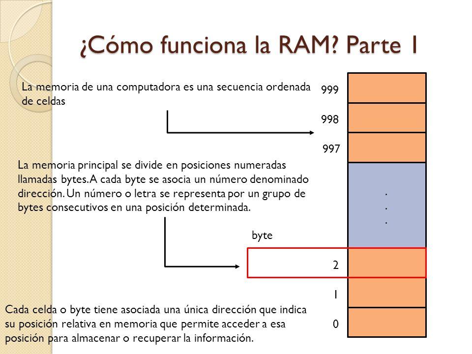 ¿Cómo funciona la RAM Parte 1