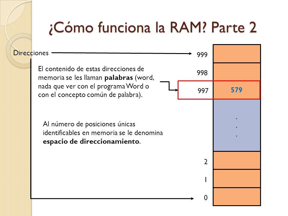 ¿Cómo funciona la RAM Parte 2