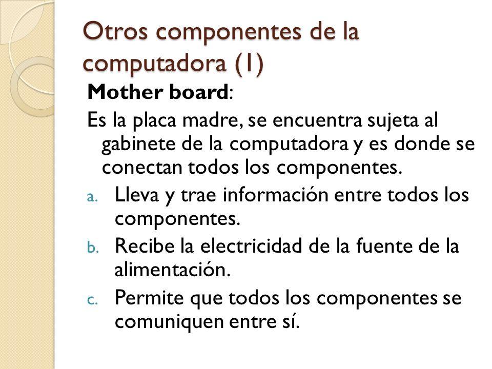 Otros componentes de la computadora (1)
