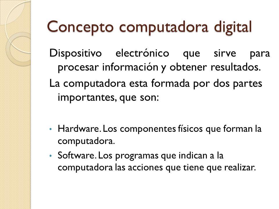 Concepto computadora digital