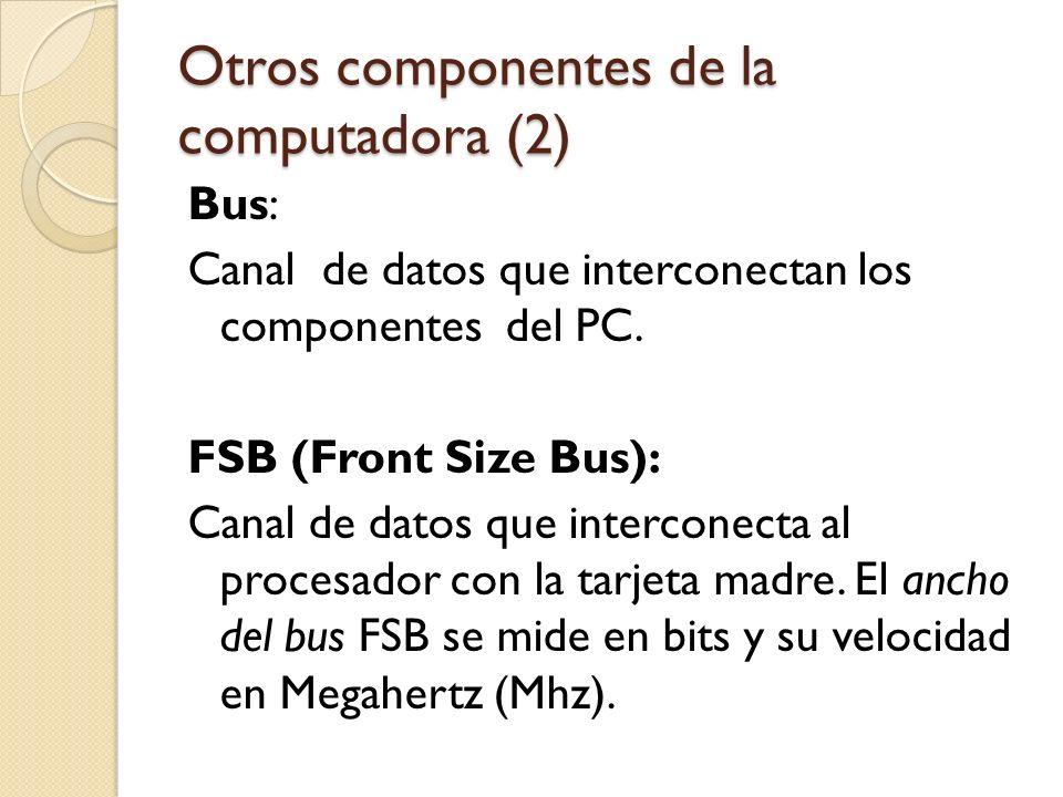Otros componentes de la computadora (2)