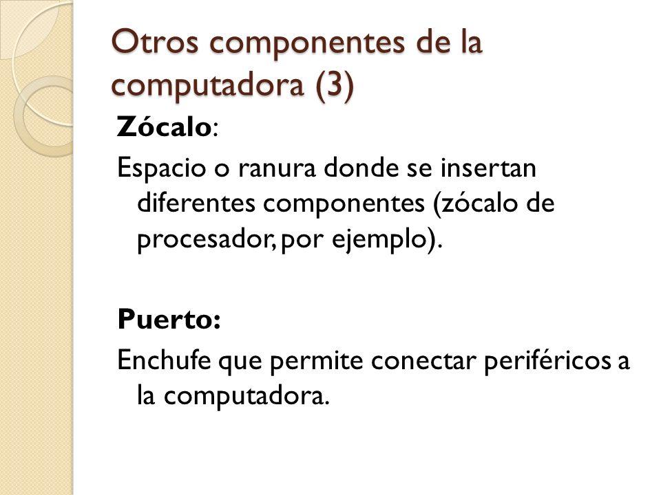 Otros componentes de la computadora (3)