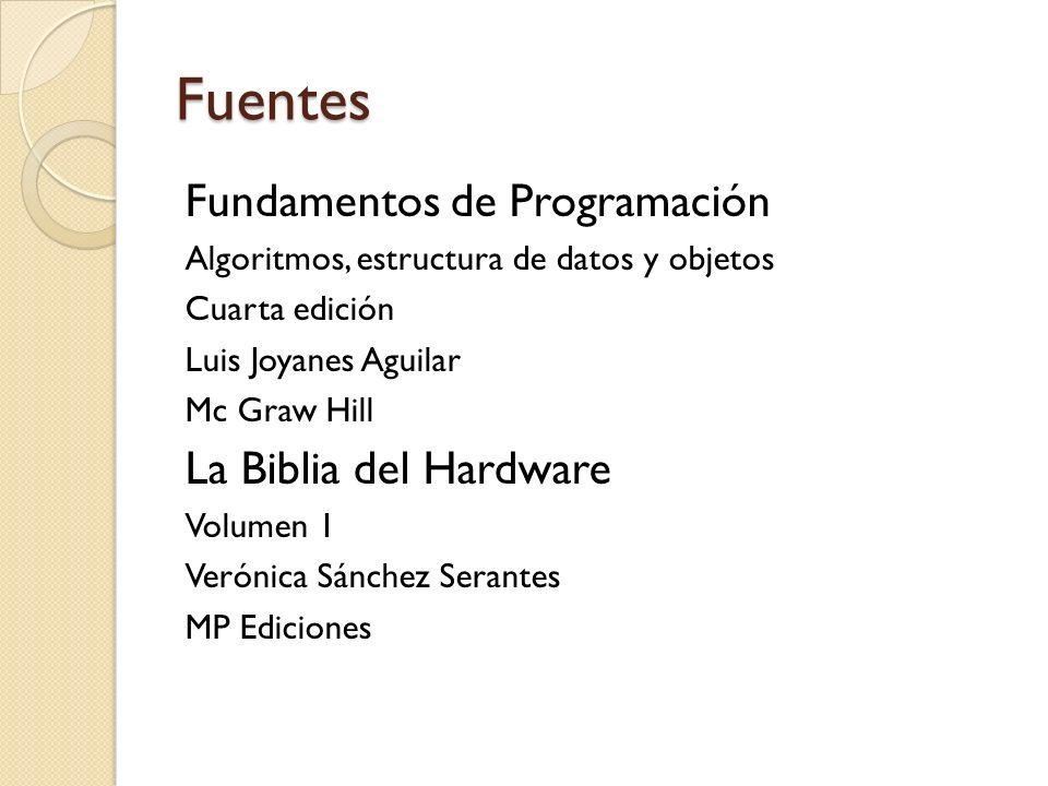Fuentes Fundamentos de Programación La Biblia del Hardware