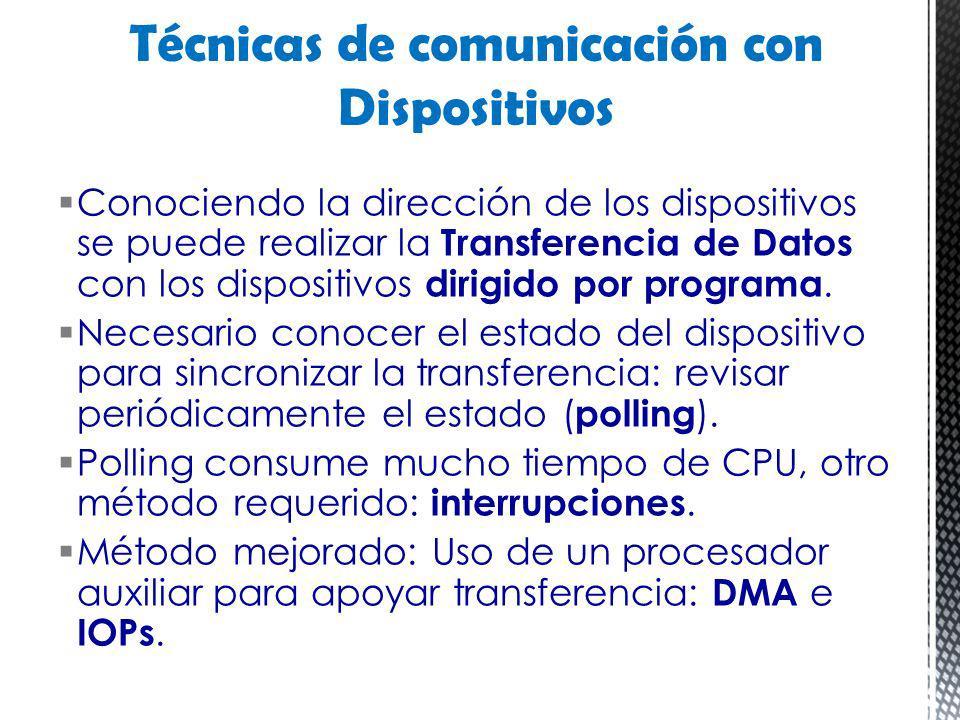 Técnicas de comunicación con Dispositivos