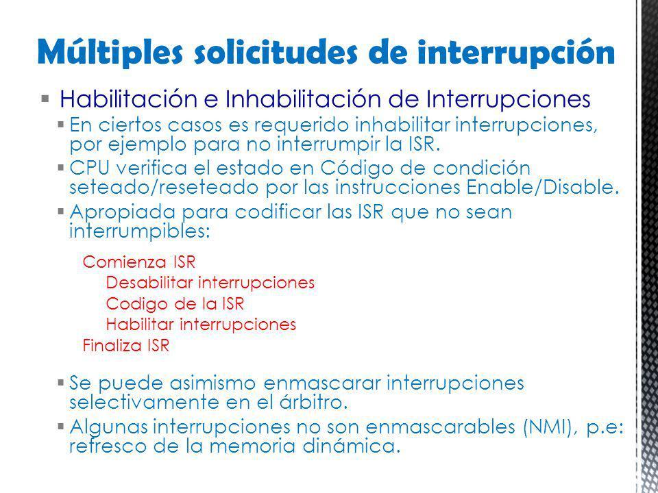 Múltiples solicitudes de interrupción