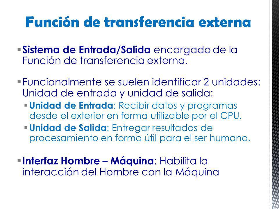 Función de transferencia externa