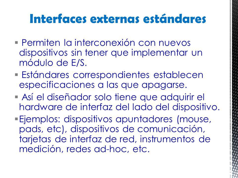 Interfaces externas estándares