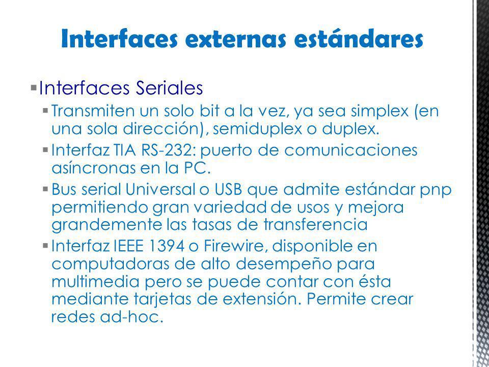 Interfaces externas estándares