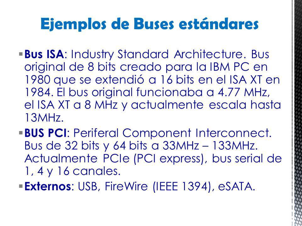 Ejemplos de Buses estándares