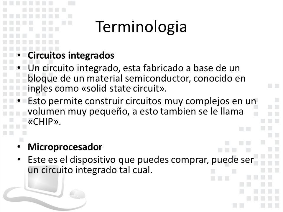 Terminologia Circuitos integrados
