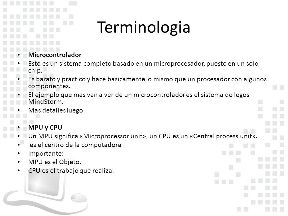 Terminologia Microcontrolador