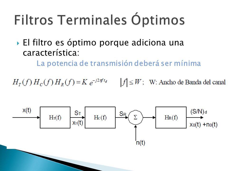 Filtros Terminales Óptimos