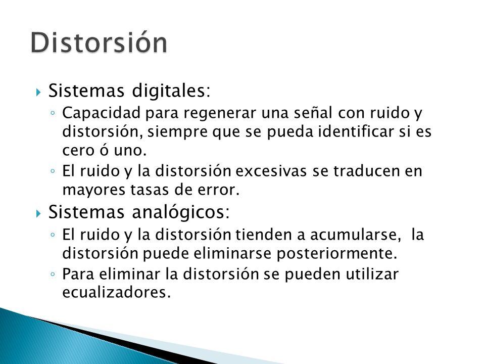 Distorsión Sistemas digitales: Sistemas analógicos:
