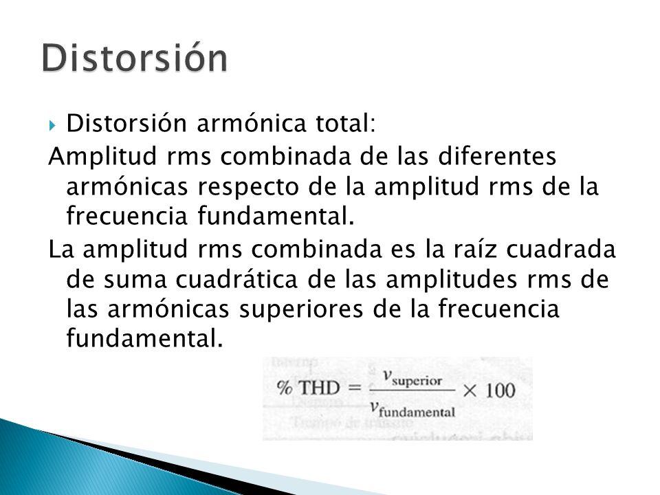 Distorsión Distorsión armónica total: