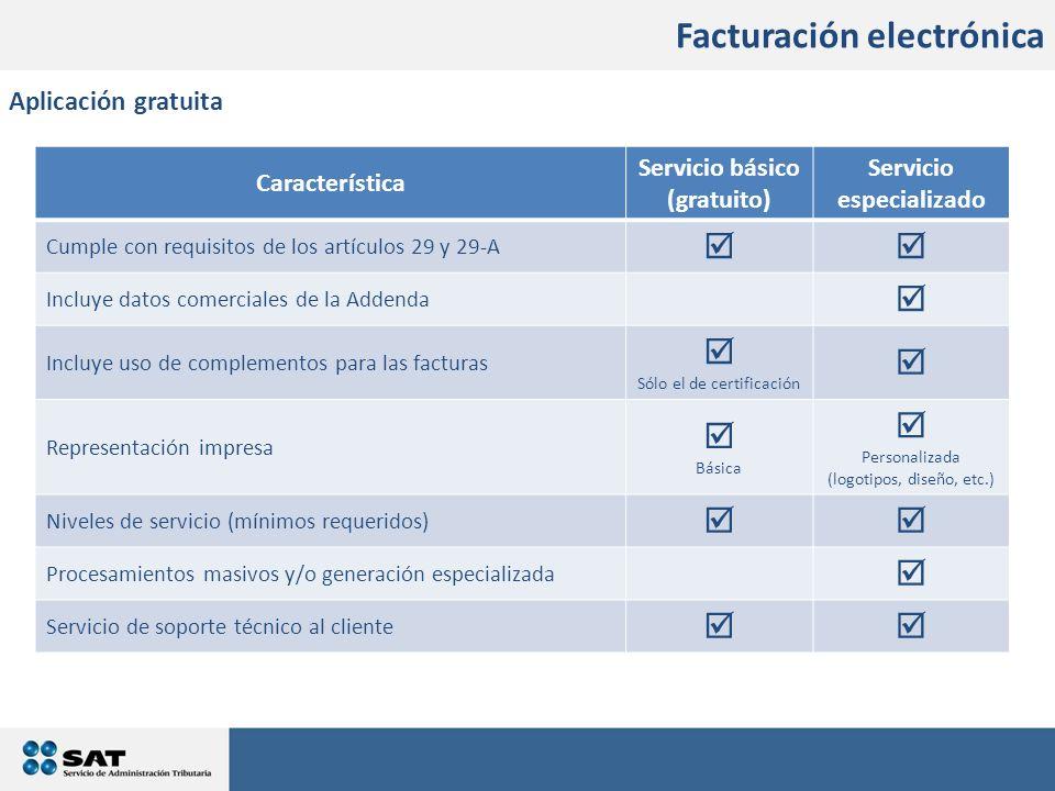 Servicio básico (gratuito) Servicio especializado
