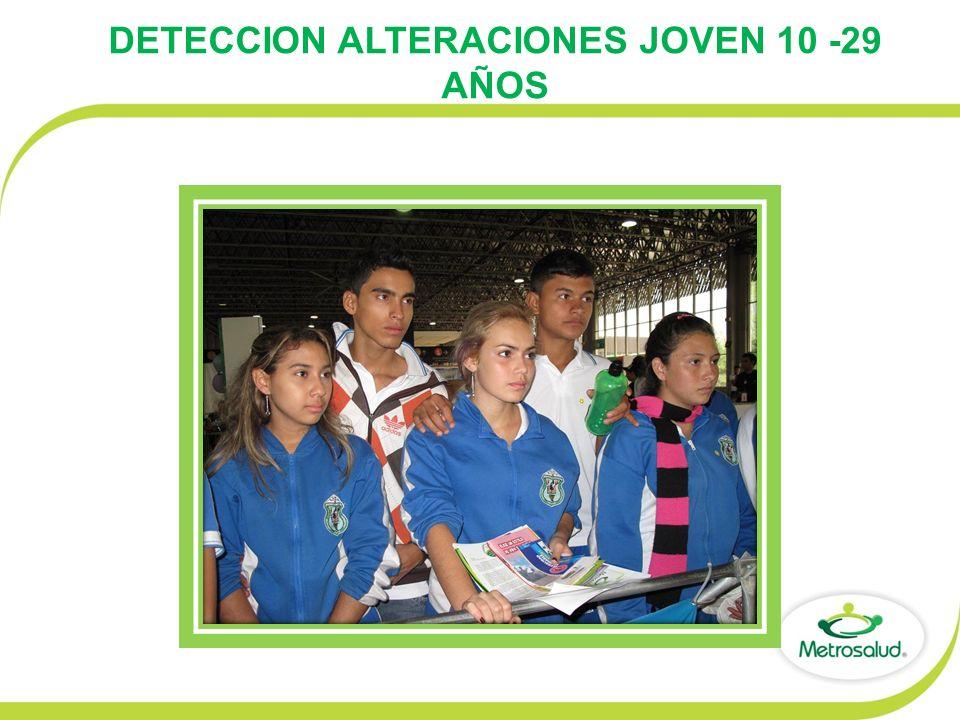 DETECCION ALTERACIONES JOVEN 10 -29 AÑOS