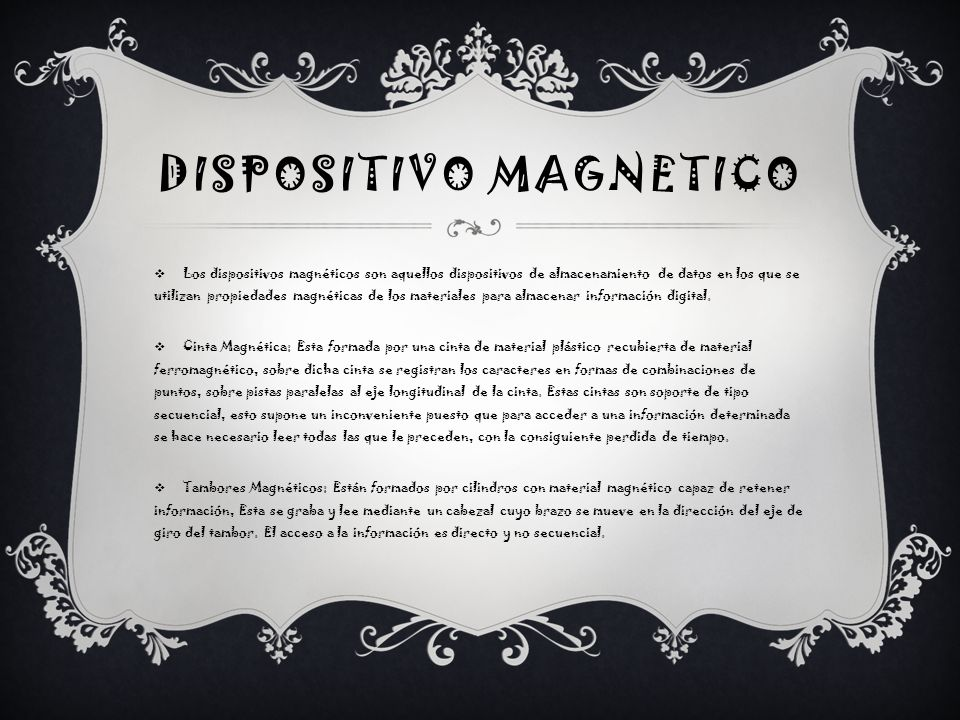 DISPOSITIVO MAGNETICO