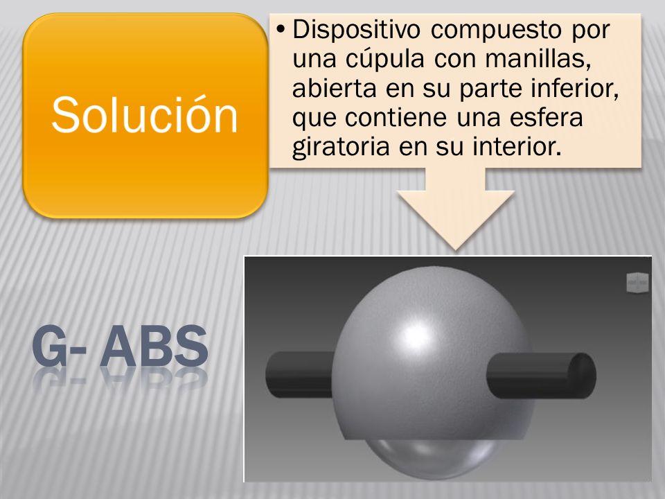 Dispositivo compuesto por una cúpula con manillas, abierta en su parte inferior, que contiene una esfera giratoria en su interior.