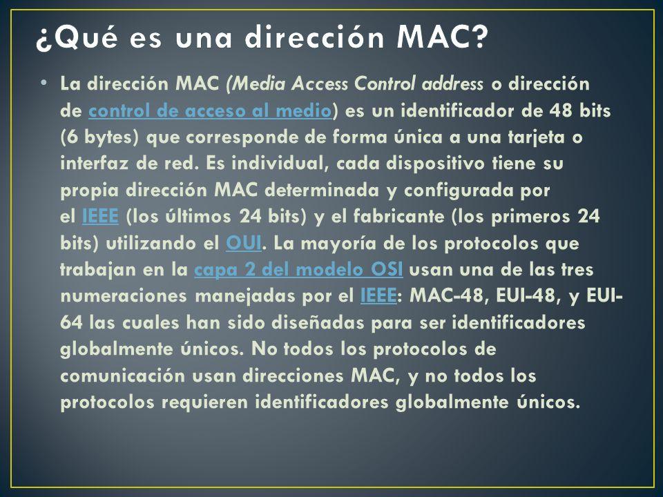 ¿Qué es una dirección MAC