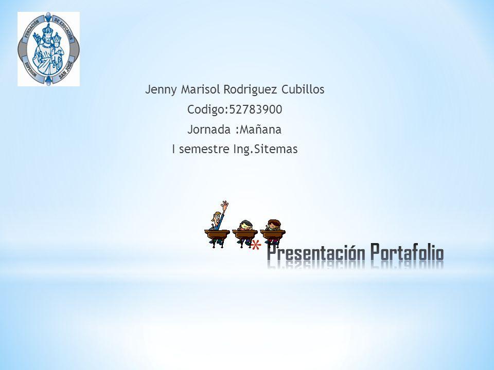 Presentación Portafolio