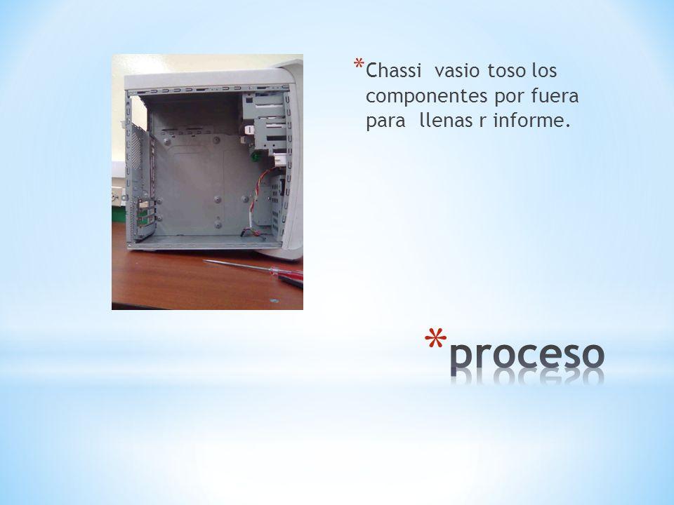 Chassi vasio toso los componentes por fuera para llenas r informe.