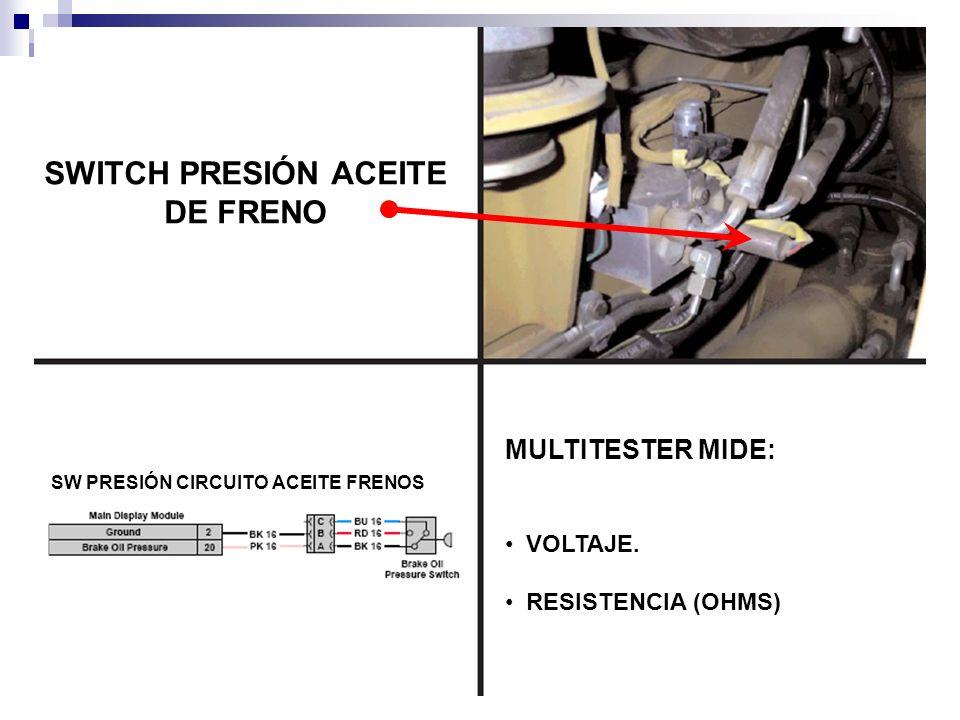 SWITCH PRESIÓN ACEITE DE FRENO