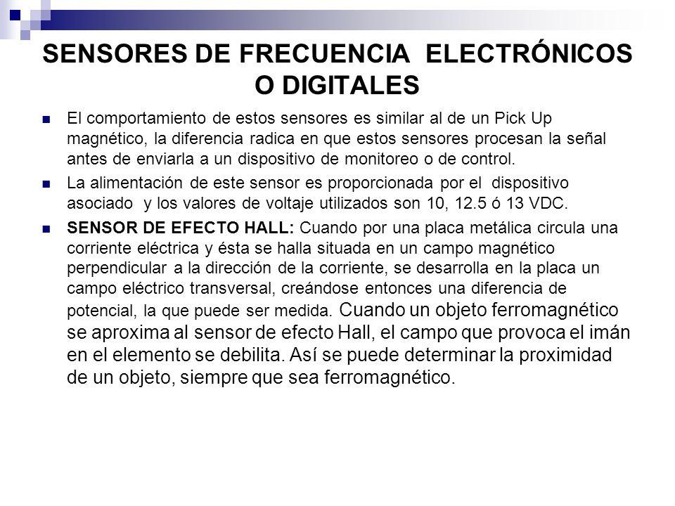 SENSORES DE FRECUENCIA ELECTRÓNICOS O DIGITALES