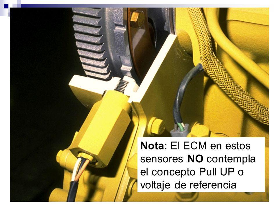 Nota: El ECM en estos sensores NO contempla el concepto Pull UP o voltaje de referencia