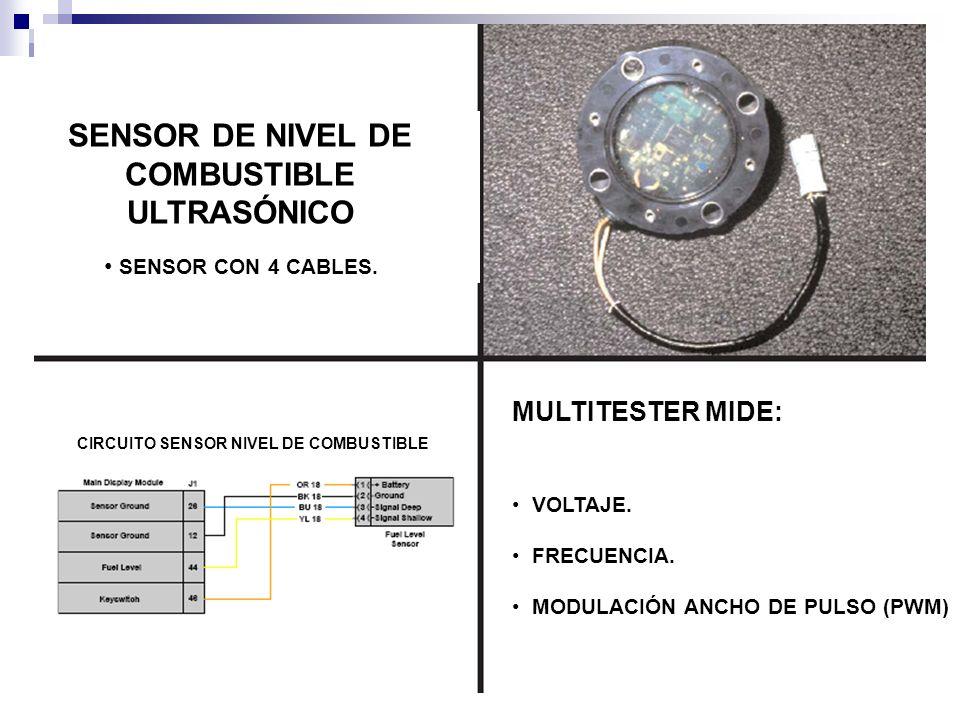 SENSOR DE NIVEL DE COMBUSTIBLE ULTRASÓNICO