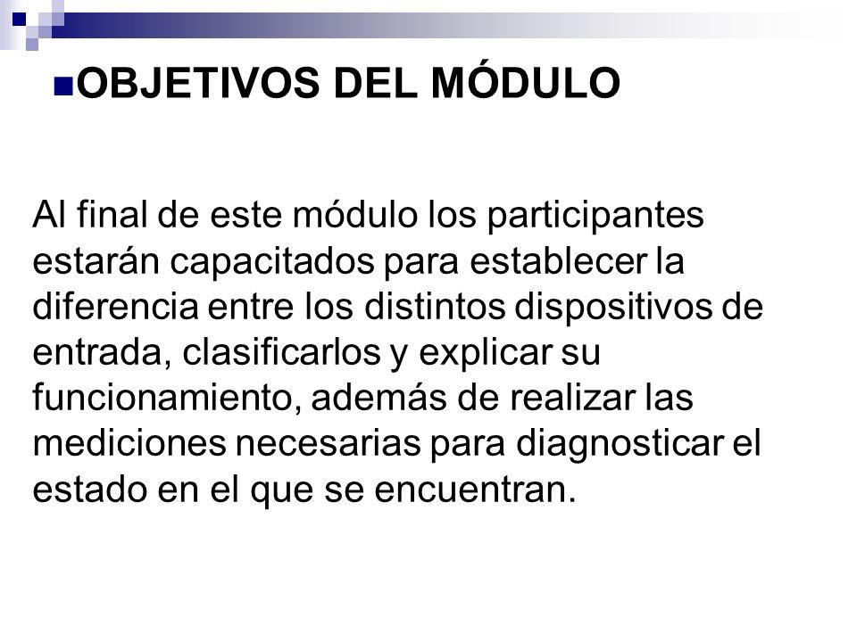 OBJETIVOS DEL MÓDULO